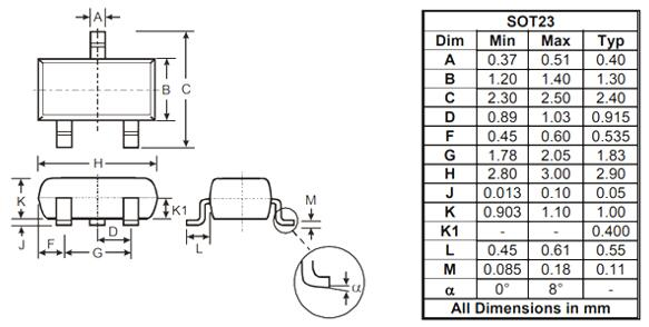 BSS138 MOSFET Package: SOT23