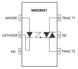 MOC3021 Pinout