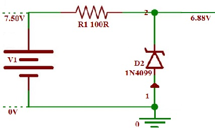 Zener Diode Protection Circuit