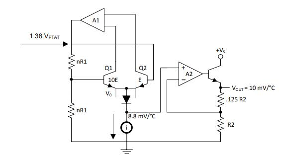 LM35 Functional Block Diagram