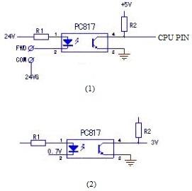 Optocoupler pc817 application circuit