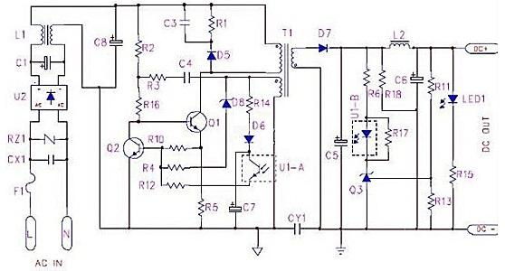 TL431& PC817 voltage regulation feedback circuit