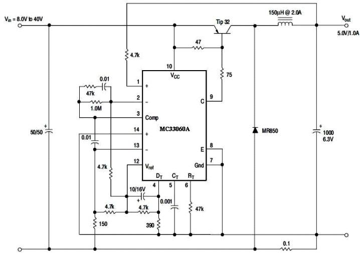 MC33060 step-down chopper circuit