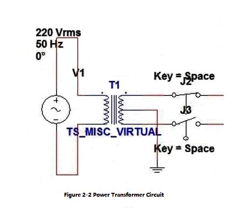 Figure 2-2 Power Transformer Circuit
