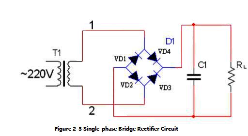 Figure 2-3 Single-phase Bridge Rectifier Circuit