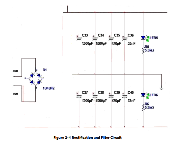 Figure 2-4 Rectification and Filter Circuit