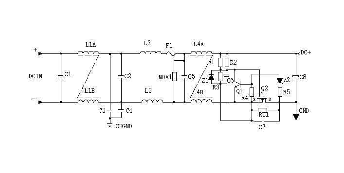 DC Input Filter Circuit