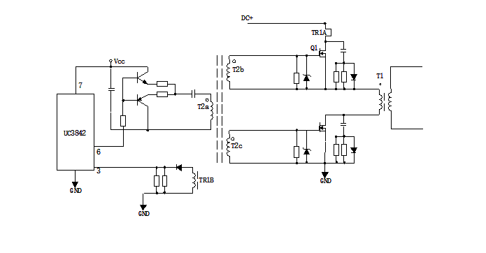 Power Conversion Circuit with Drive Transformer