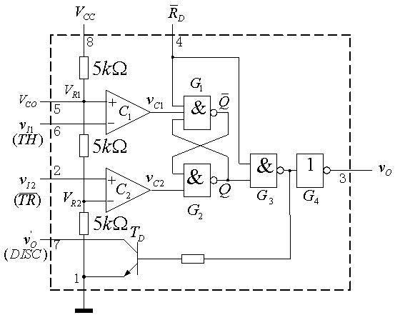 555 Internal Circuit Diagram