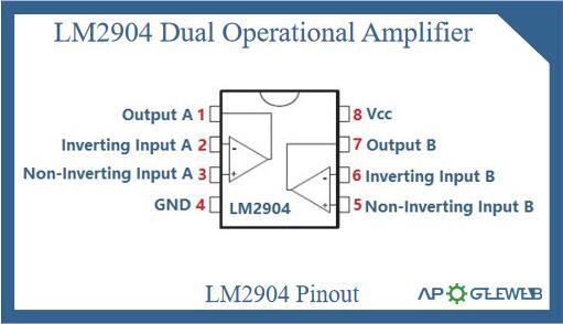 lm2904 dual op amp pinout
