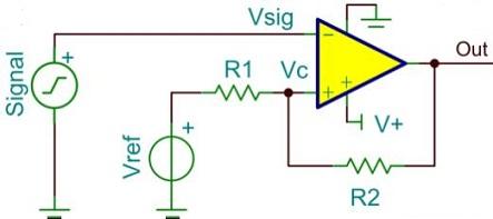 analog voltage comparator circuit