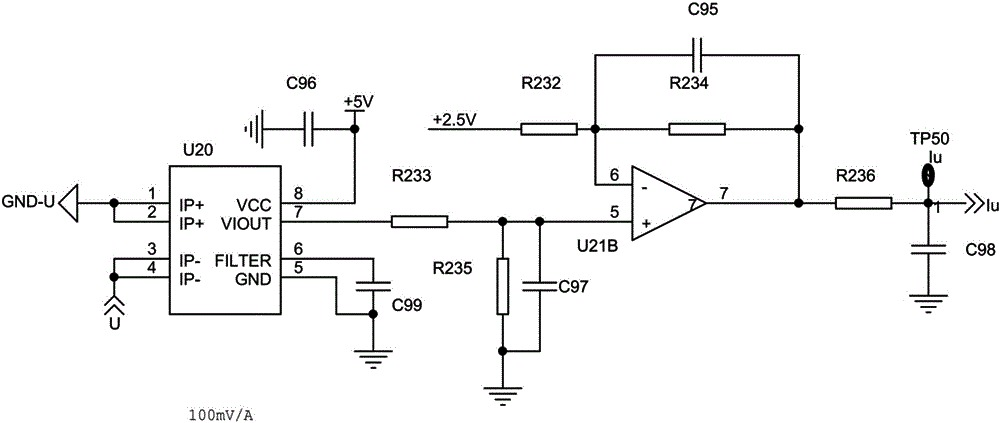 An inverter overcurrent protection circuit