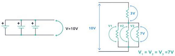 An Example of Parallel Voltage Circuit