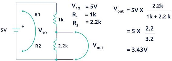 Classic Voltage Divider Circuit