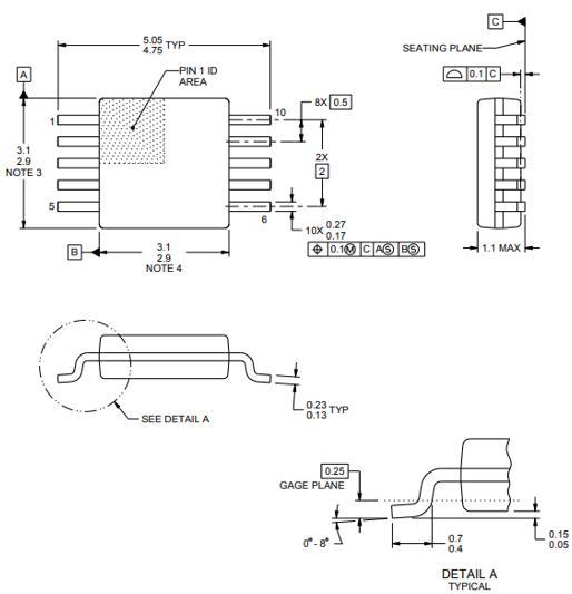 ADS1115 Package: VSSOP (DGS)