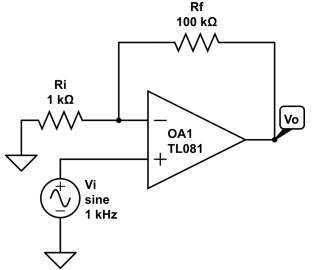 Non-inverting AC Amplifier