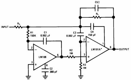Fast Summing Amplifier with Low Input Current