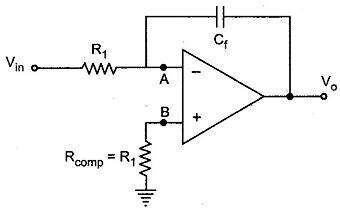 Op Amp Integrator with Bias Current Compensation