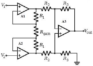 Differential-input Instrumentation Amplifier