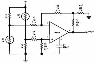 Bridge Amplifier with Low Noise Compensation