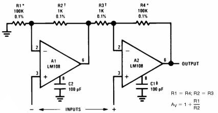 High Input Impedance Instrumentation Amplifier