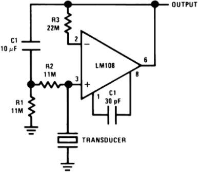 Amplifier for Piezoelectric Transducer