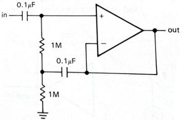 High Input Impedance AC Follower