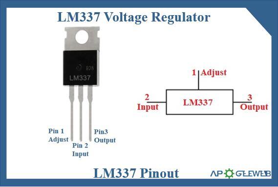LM337 voltage regulator pinout