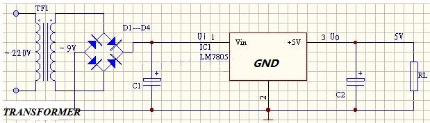 7805 typical circuit