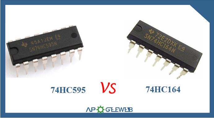 74HC595 VS 74HC164