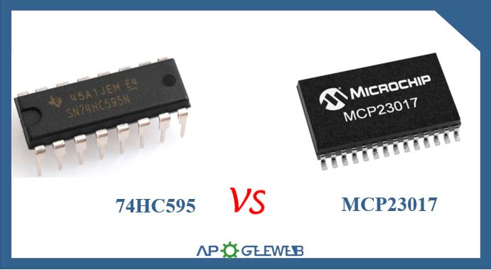 74HC595 vs MCP23017
