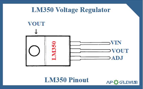 LM350 voltage regulator pinout