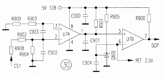 24V switching power supply circuit