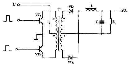 Push-pull switching power supply circuit