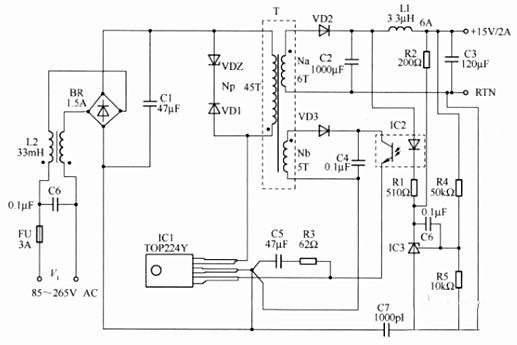 Power feedback isolation circuit