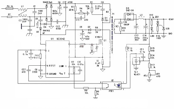 Inverter and rectifier circuit