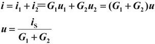 voltage u calculation in KCL equation