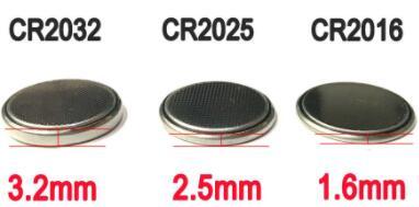 cr2016 vs cr2032 vs cr2025