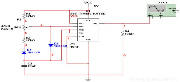 Circuit with Adjustable Duty Cycle (1KHz)