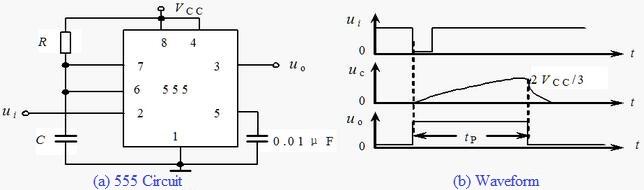 555 Timer Monostable Circuit Analysis