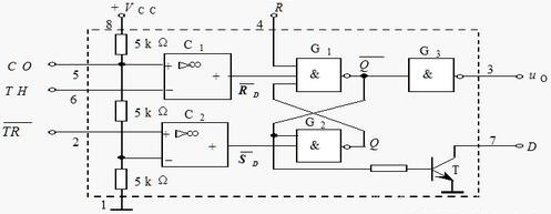 555 Timer Monostable Circuit Example