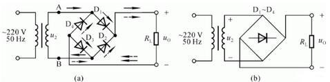 Single Phase Bridge Rectifier Circuit