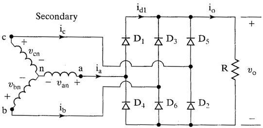 Three Phase Bridge Rectifier Circuit