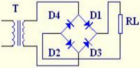 Schematic Diagram of Bridge Rectifier Circuit