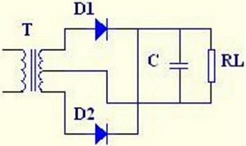 bridge rectifier circuit with capacitor