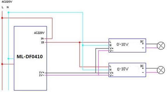 0-10V Dimming Circuit Diagram