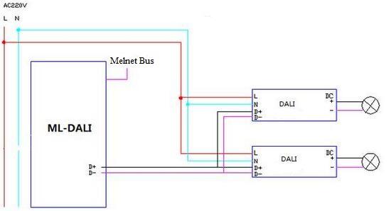 DALI Dimming Circuit Diagram