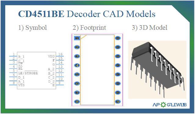 CD4511BE Decoder CAD Models