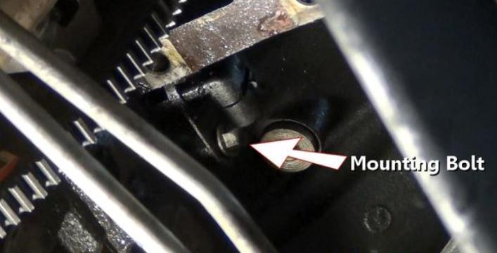 Remove the Sensor Mount Bolt