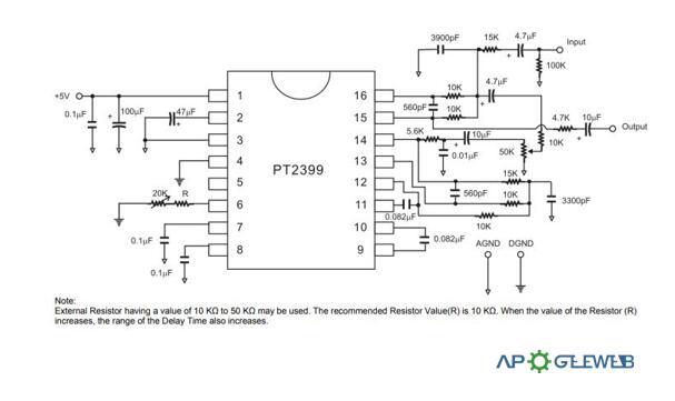 PT2399Application Circuit